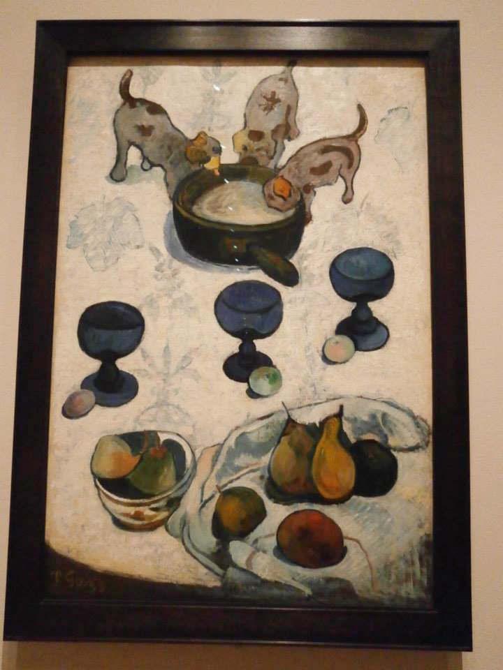 ポール・ゴーギャン Paul Gauguin Still Life with Three Puppies